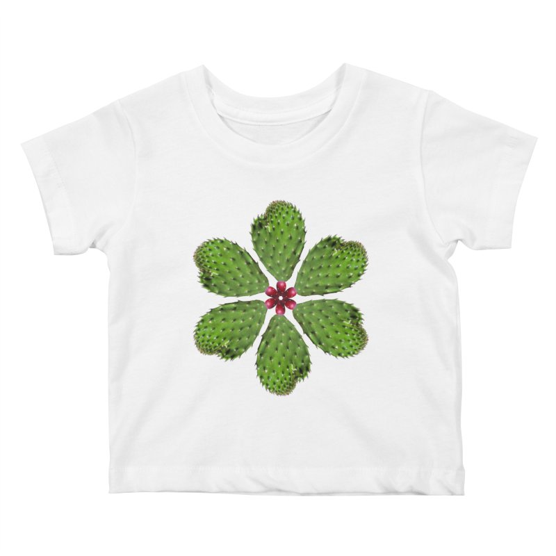 Cactus flower Kids Baby T-Shirt by Tejedor shop