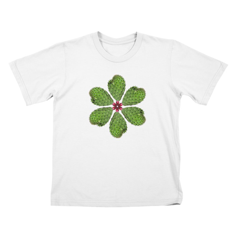 Cactus flower Kids T-Shirt by Tejedor shop