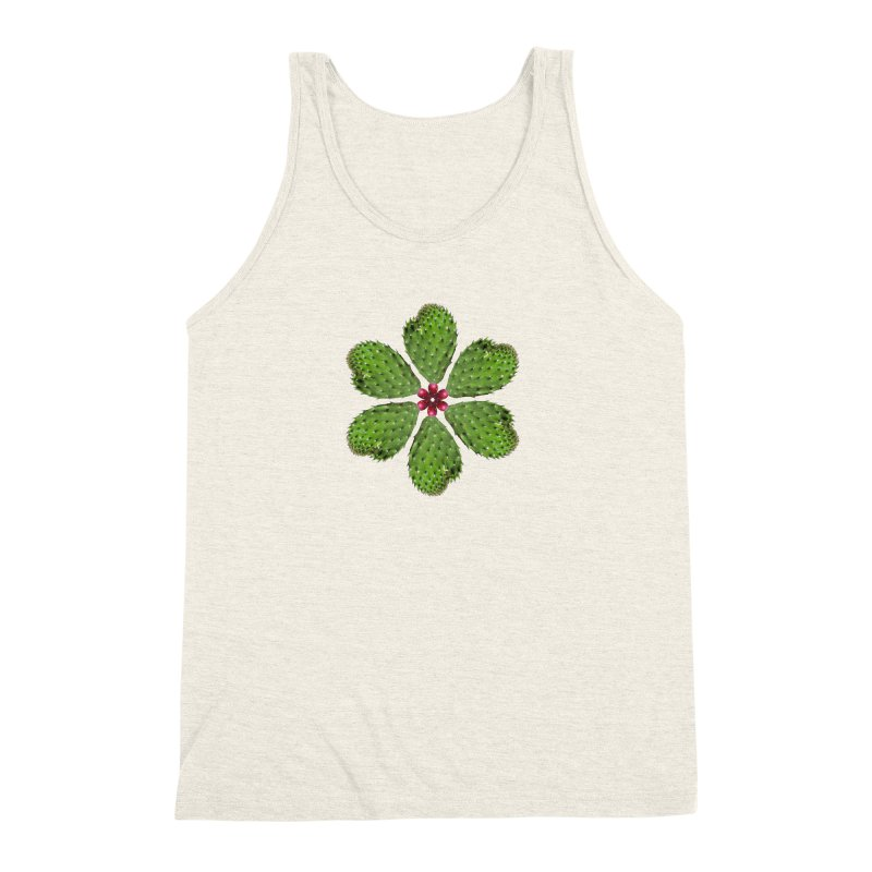 Cactus flower Men's Triblend Tank by Tejedor shop