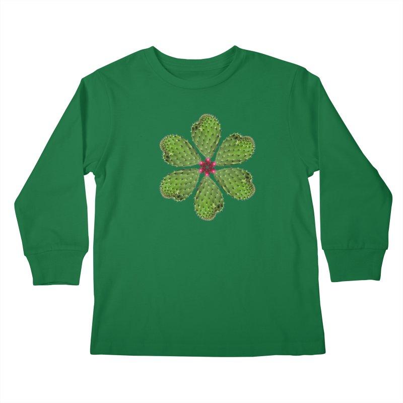 Cactus flower Kids Longsleeve T-Shirt by Tejedor shop