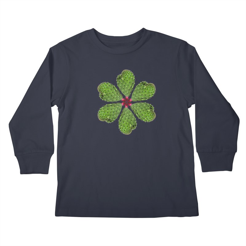 Cactus flower Kids Longsleeve T-Shirt by Tejedor shop