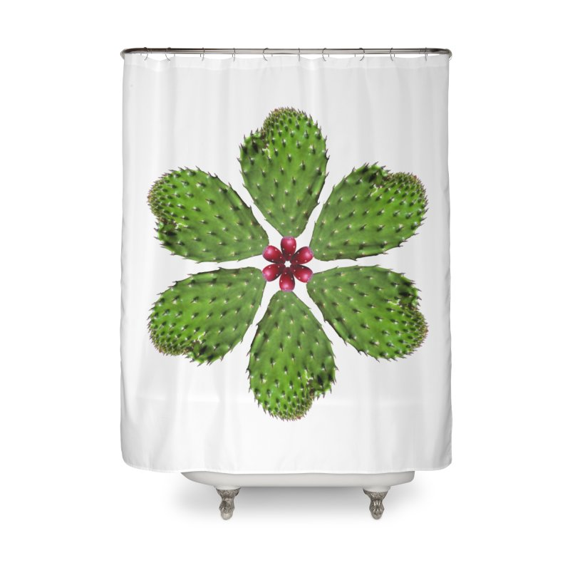 Cactus flower Home Shower Curtain by Tejedor shop