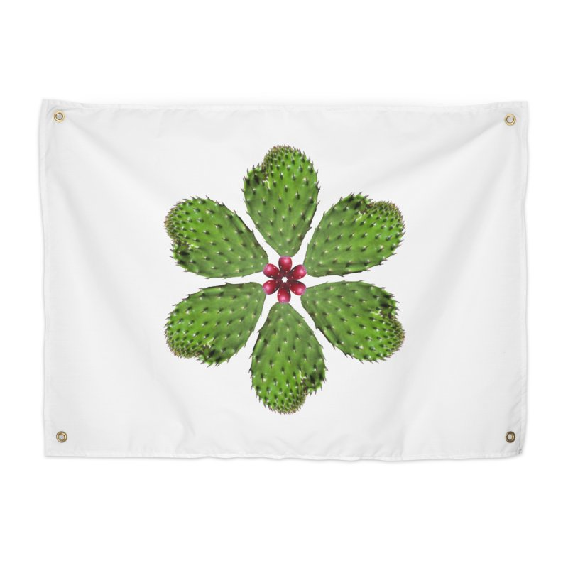 Cactus flower Home Tapestry by Tejedor shop