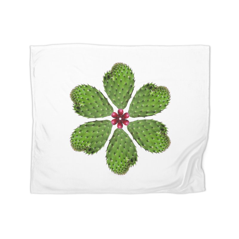 Cactus flower Home Blanket by Tejedor shop