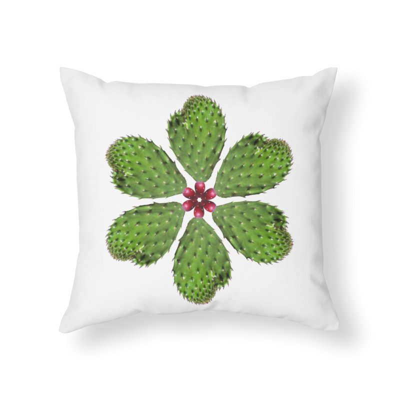 Cactus flower Home Throw Pillow by Tejedor shop