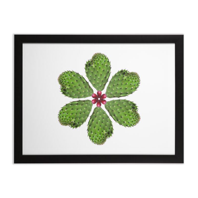 Cactus flower Home Framed Fine Art Print by Tejedor shop