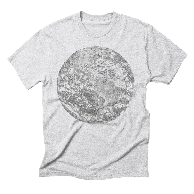 Earth Men's Triblend T-Shirt by Tello Daytona's Artist Shop