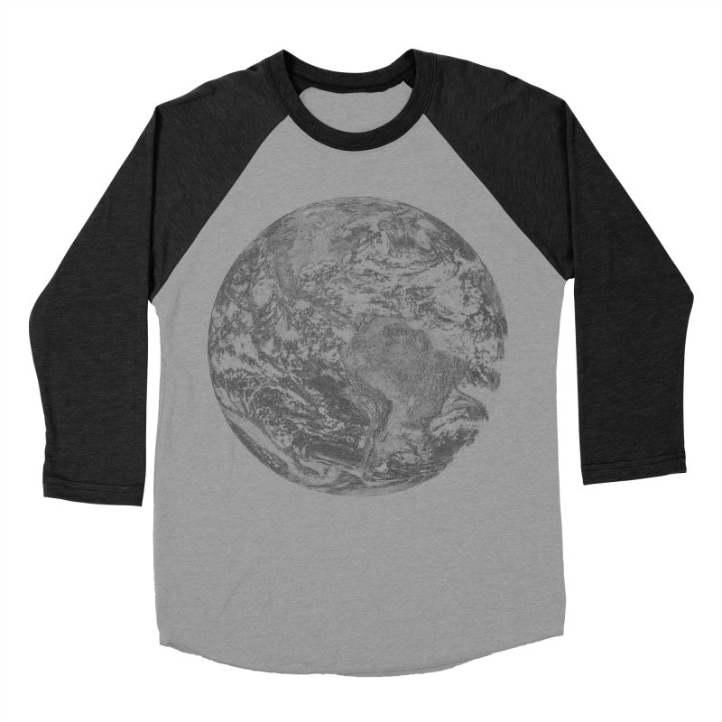 Earth Men's Baseball Triblend T-Shirt by Tello Daytona's Artist Shop