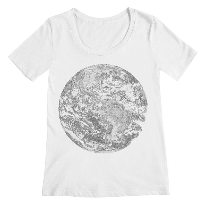 Earth Women's Scoopneck by Tello Daytona's Artist Shop