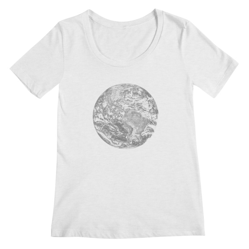 Earth Women's Scoopneck by Tello Daytona's Artist Shop
