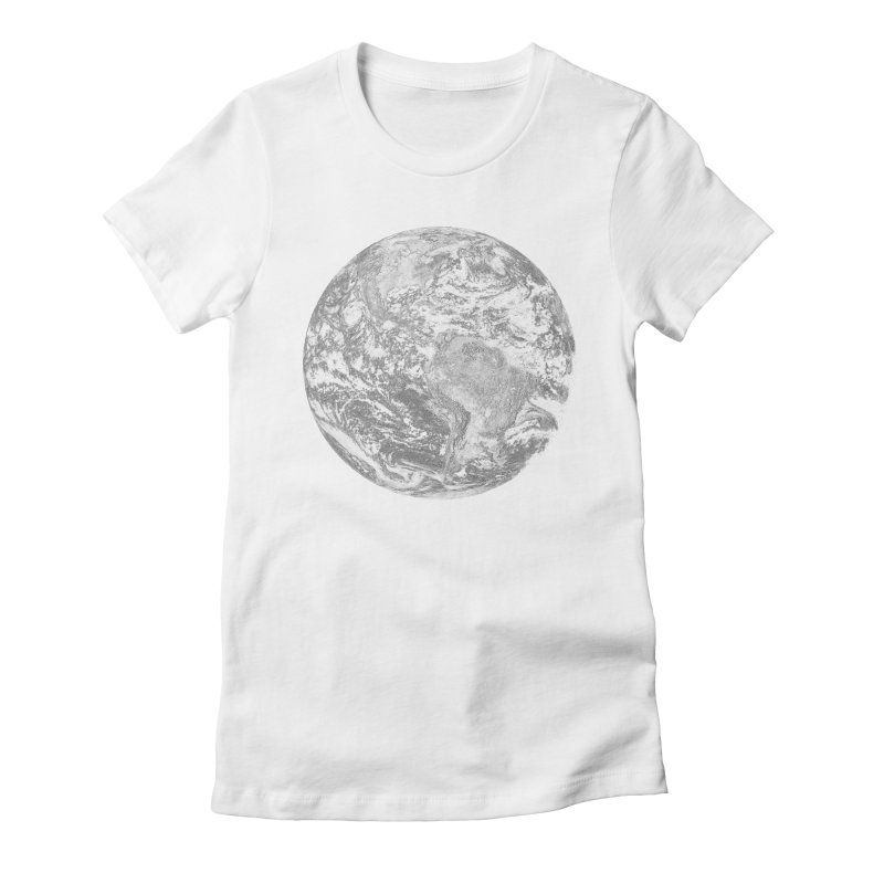 Earth Women's Fitted T-Shirt by Tello Daytona's Artist Shop