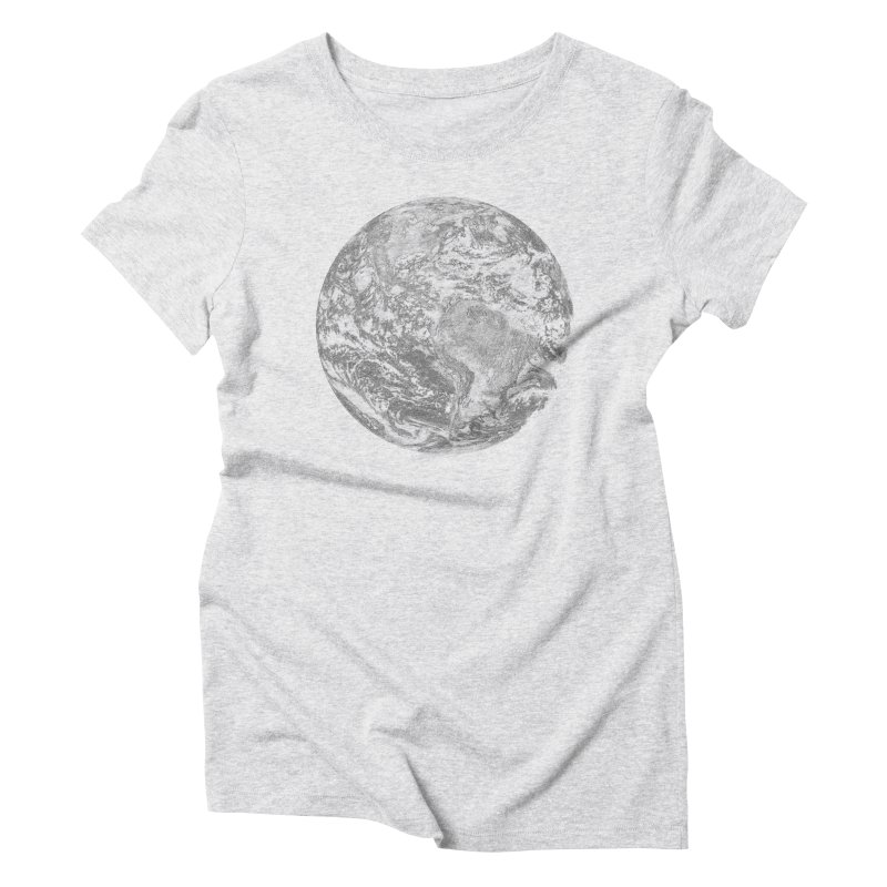 Earth Women's Triblend T-shirt by Tello Daytona's Artist Shop
