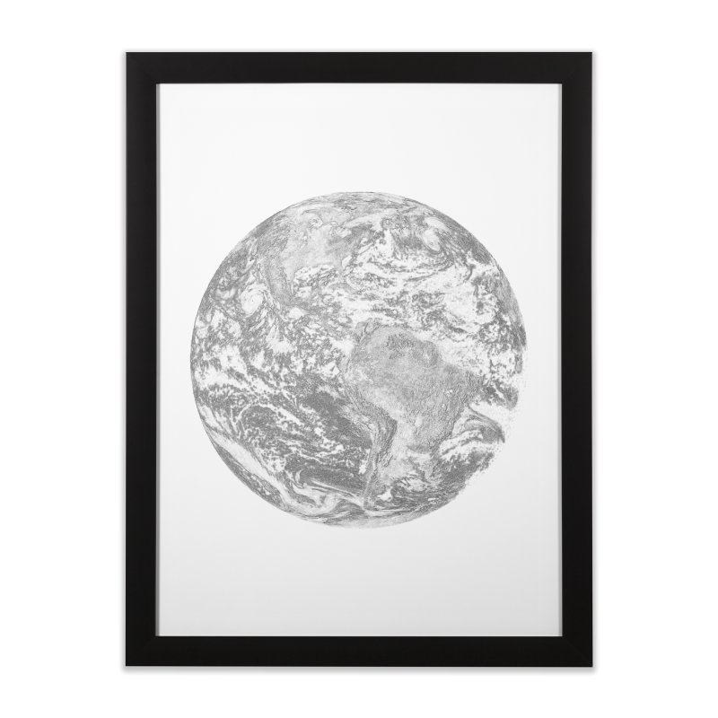Earth Home Framed Fine Art Print by Tello Daytona's Artist Shop
