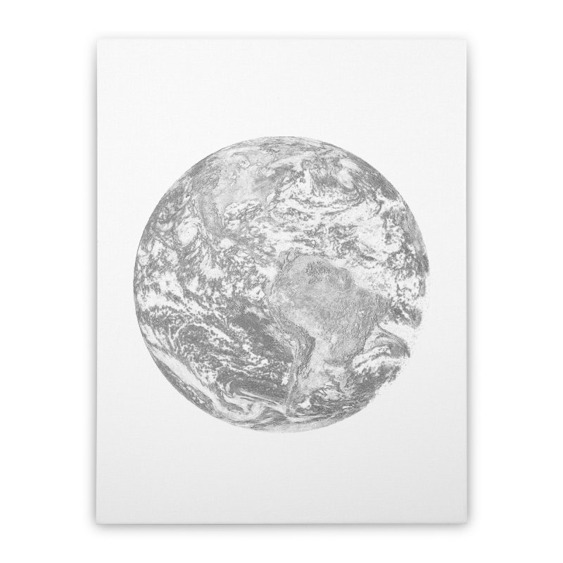 Earth Home Stretched Canvas by Tello Daytona's Artist Shop