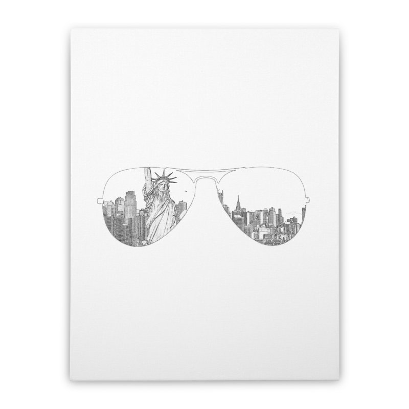 New York Home Stretched Canvas by Tello Daytona's Artist Shop