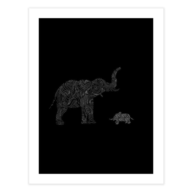 Elephants  Home Fine Art Print by Tello Daytona's Artist Shop