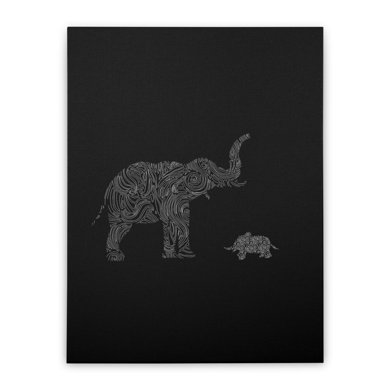 Elephants  Home Stretched Canvas by Tello Daytona's Artist Shop