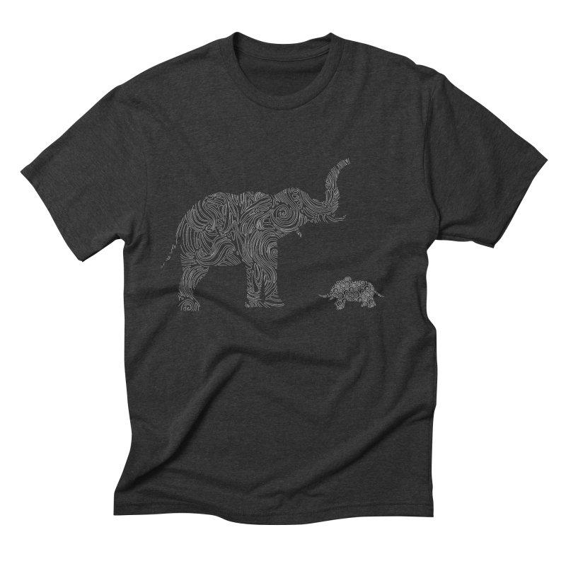 Elephants  Men's Triblend T-shirt by Tello Daytona's Artist Shop
