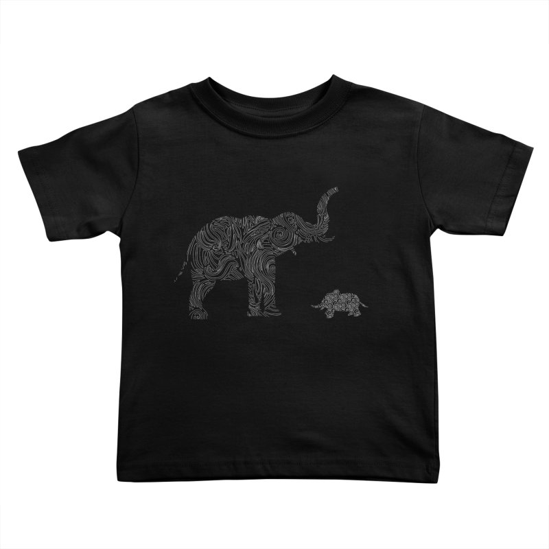 Elephants  Kids Toddler T-Shirt by Tello Daytona's Artist Shop