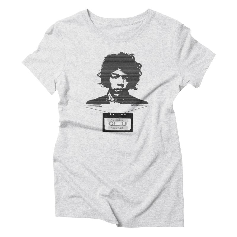 Jimi Hendrix Women's Triblend T-shirt by Tello Daytona's Artist Shop