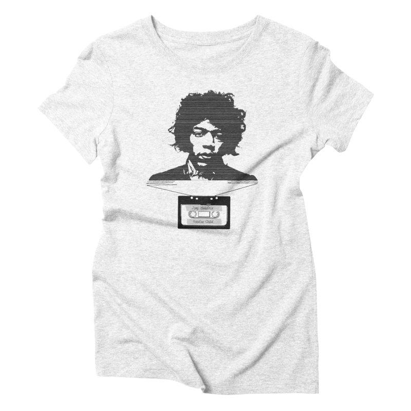 Jimi Hendrix Women's Triblend T-shirt by Tello Daytona's Artist Shop