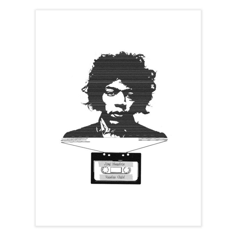 Jimi Hendrix Home Fine Art Print by Tello Daytona's Artist Shop