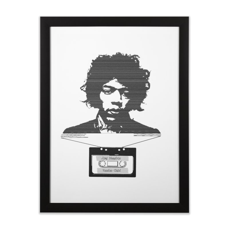 Jimi Hendrix Home Framed Fine Art Print by Tello Daytona's Artist Shop