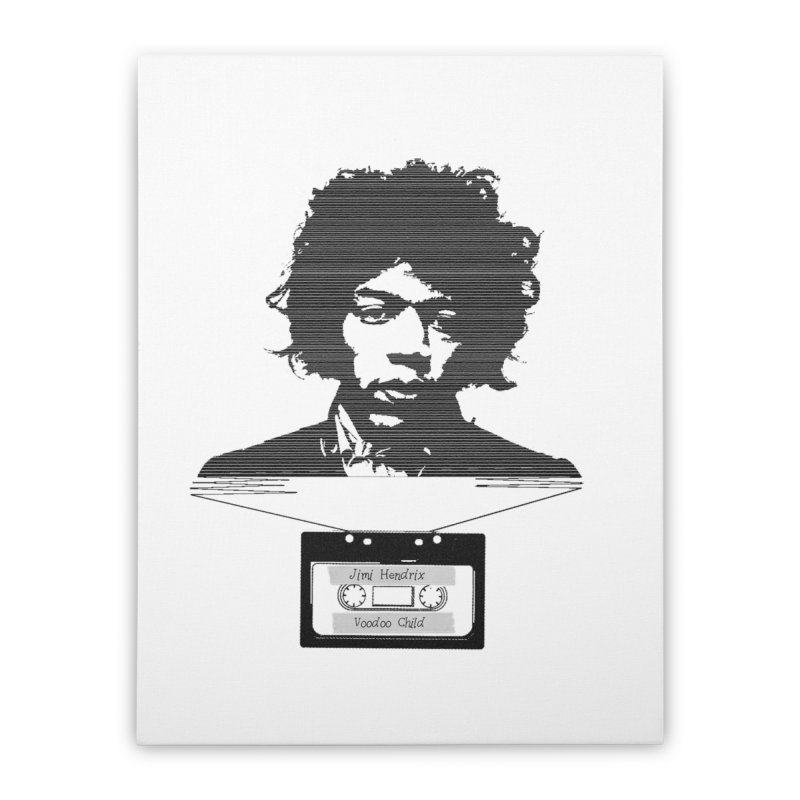 Jimi Hendrix Home Stretched Canvas by Tello Daytona's Artist Shop