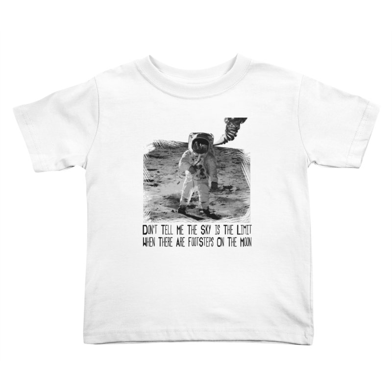 Footsteps on the Moon Kids Toddler T-Shirt by Tello Daytona's Artist Shop
