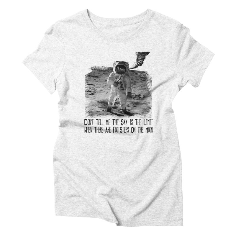 Footsteps on the Moon Women's Triblend T-shirt by Tello Daytona's Artist Shop
