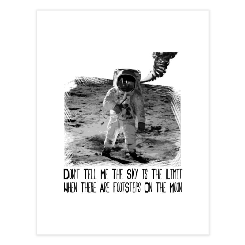 Footsteps on the Moon Home Fine Art Print by Tello Daytona's Artist Shop