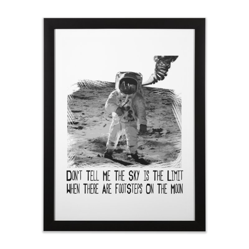 Footsteps on the Moon Home Framed Fine Art Print by Tello Daytona's Artist Shop