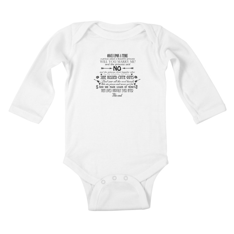 The Awesome Princess Kids Baby Longsleeve Bodysuit by Tello Daytona's Artist Shop