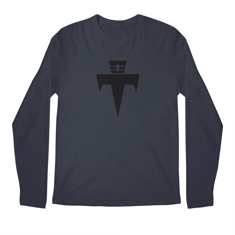 T-Ankh Black Men's Regular Longsleeve T-Shirt by TemuMusic Merch