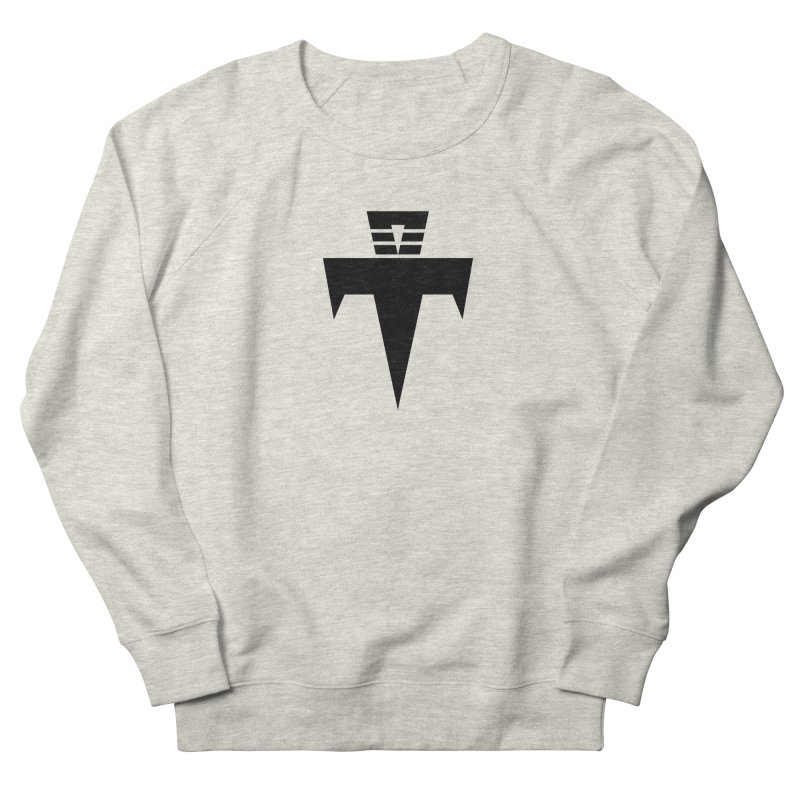 T-Ankh Black Women's French Terry Sweatshirt by TemuMusic Merch