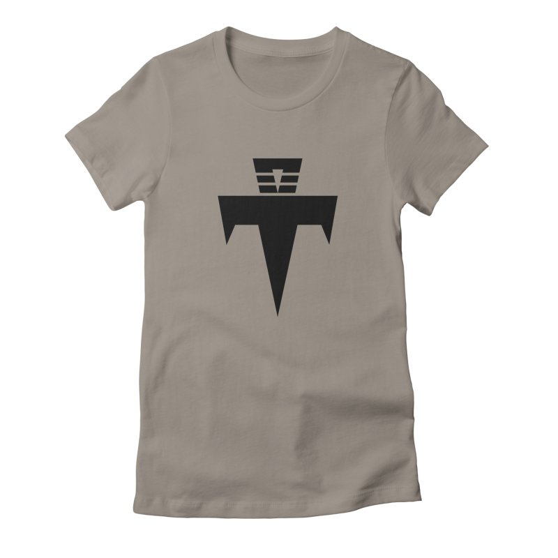 T-Ankh Black Women's Fitted T-Shirt by TemuMusic Merch