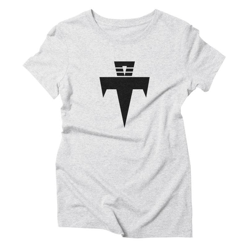 T-Ankh Black Women's Triblend T-Shirt by TemuMusic Merch