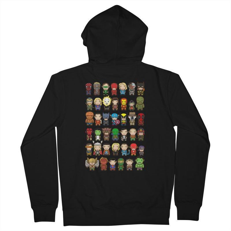 Heroes unite! Men's Zip-Up Hoody by StarryEyed's Artist Shop