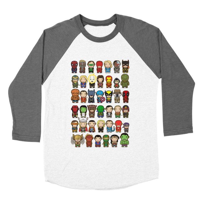 Heroes unite! Women's Baseball Triblend T-Shirt by StarryEyed's Artist Shop