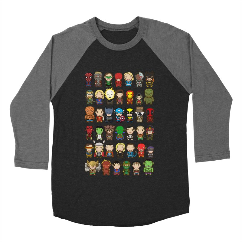 Heroes unite! Women's Baseball Triblend T-Shirt by StarryEyed's Artist Shop