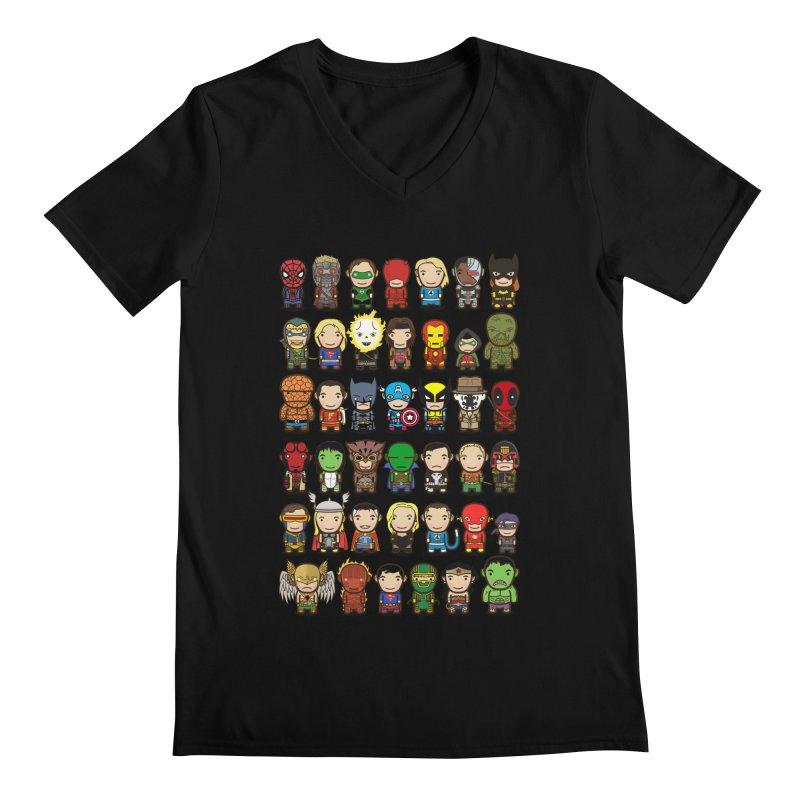 Heroes unite! Men's V-Neck by StarryEyed's Artist Shop