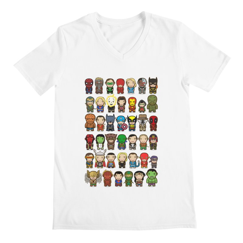 Heroes unite! Men's V-Neck by StarryEyed's Artist Shop