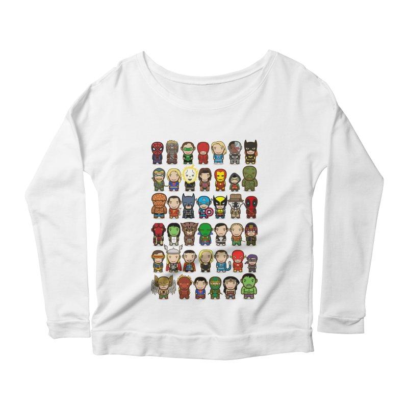 Heroes unite! Women's Longsleeve Scoopneck  by StarryEyed's Artist Shop