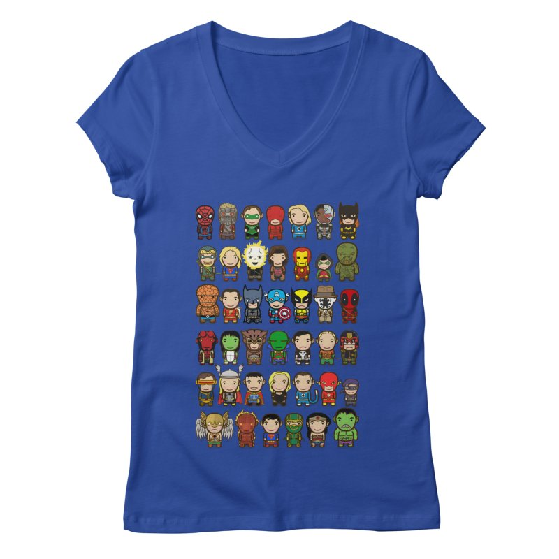 Heroes unite! Women's V-Neck by StarryEyed's Artist Shop