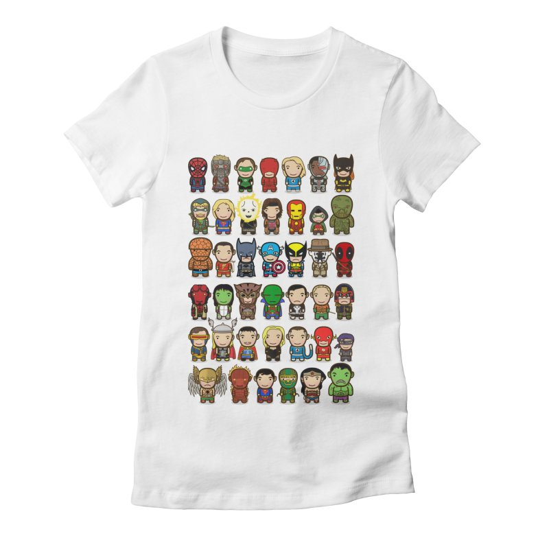 Heroes unite! Women's Fitted T-Shirt by StarryEyed's Artist Shop
