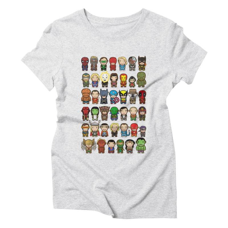 Heroes unite! Women's Triblend T-Shirt by StarryEyed's Artist Shop