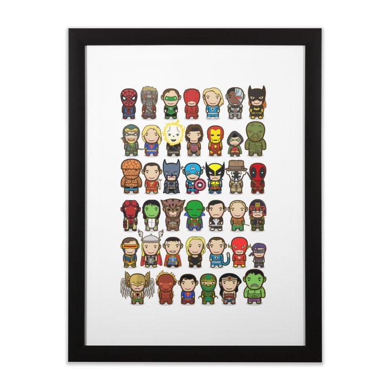 Heroes unite! Home Framed Fine Art Print by StarryEyed's Artist Shop