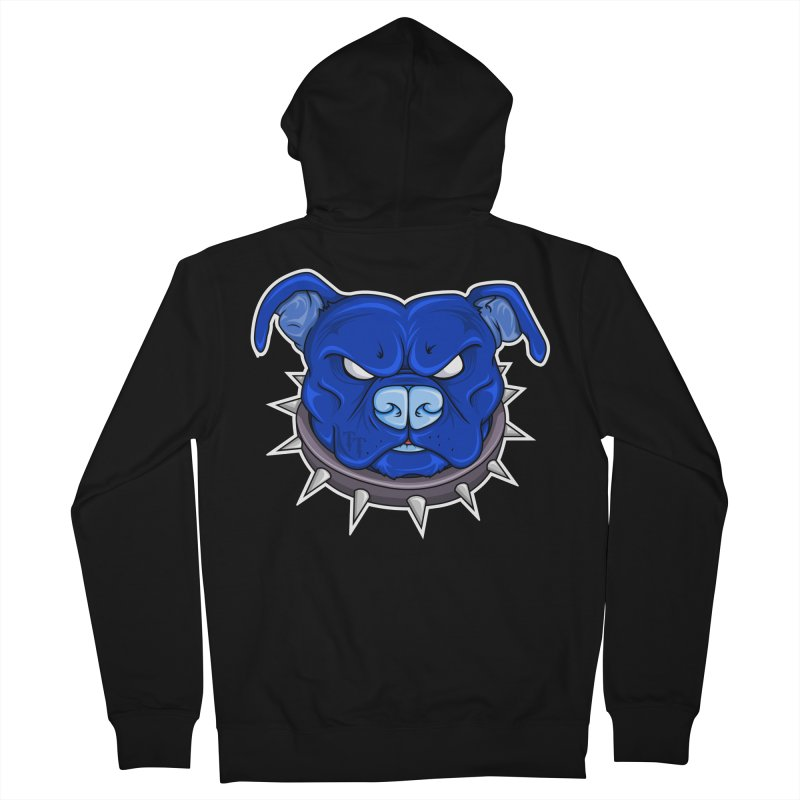 Tenacious Danger - Pit Bull Head Logo Women's French Terry Zip-Up Hoody by Tenacious Toys Apparel Collection