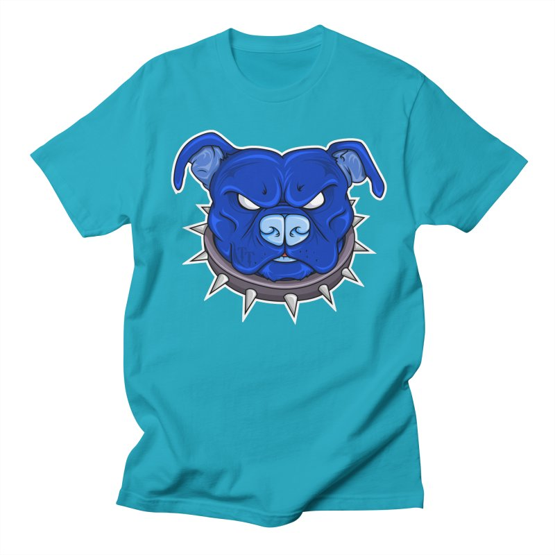 Tenacious Danger - Pit Bull Head Logo Men's T-Shirt by Tenacious Toys Apparel Collection