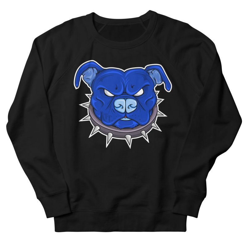 Tenacious Danger - Pit Bull Head Logo Men's French Terry Sweatshirt by Tenacious Toys Apparel Collection